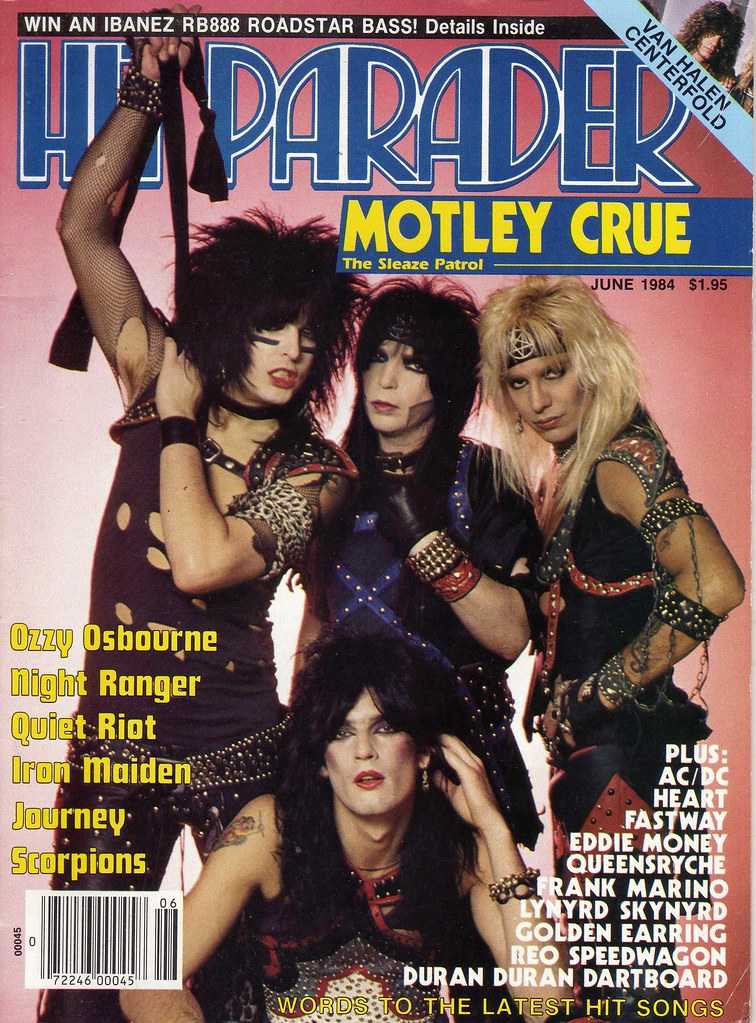 hit parader cover june 1984 with superglam stretch co