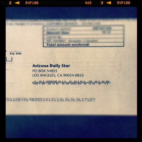 #AZDailyStar outsourcing billing to Los Angeles, Calif. | by Matthew A. Lewis