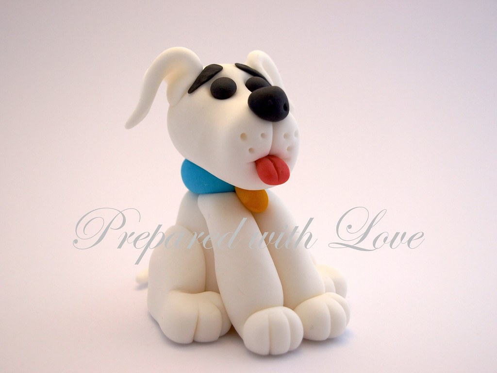 dog cake toppers puppy fondant cake topper handmade fondant puppy 3643