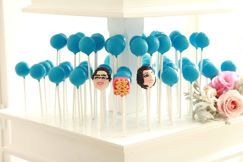 Bride and Groom and Double Happiness Cake Pops | by Sweet Lauren Cakes