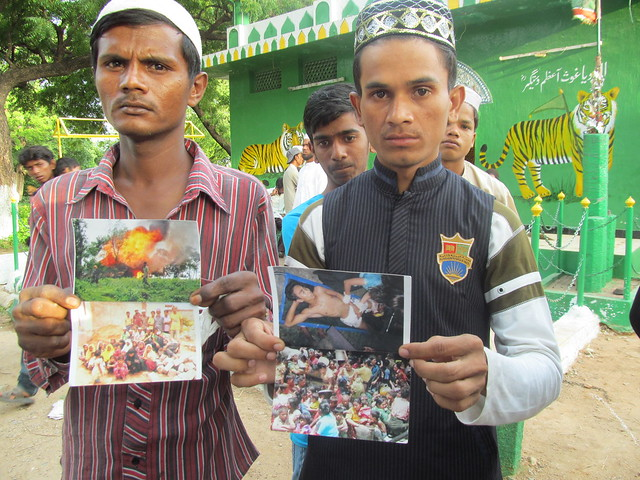 rohingyan muslims showing their persecution pics