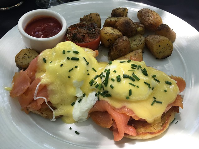 Smoked salmon eggs benedict - Spencer's Restaurant