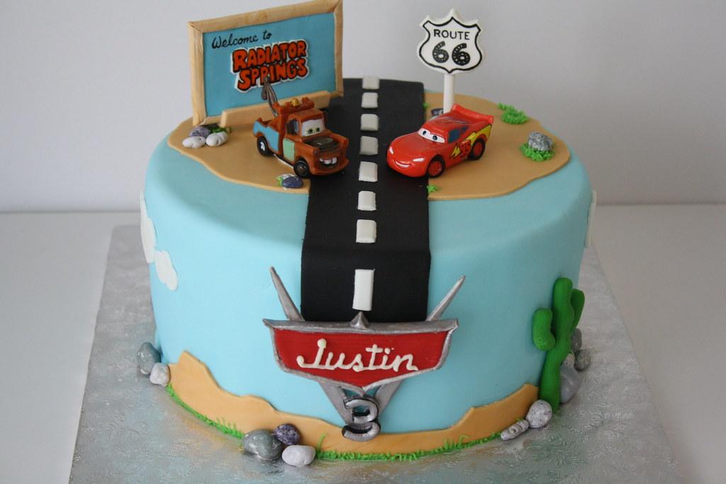 Pixars Cars Birthday Cake Michelle Liu Flickr
