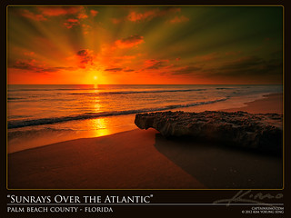 Sunrays Bursting Over the Atlantic Ocean Florida | by Captain Kimo