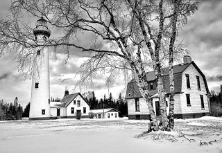 """New Presque Isle Lighthouse"" Presque Isle, Michigan 