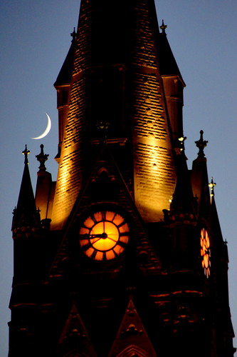 Crescent Moon at St. Louis University Cathedral | by kemolledog