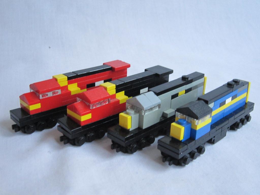 Как сделать поезда из лего