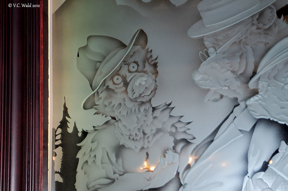 Glass Etchings Old Faithful Inn Dining Room And Bear Pit