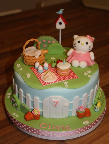 Hello kitty garden cake the rosebud cake company flickr - Hello this is my new picture garden interior ...