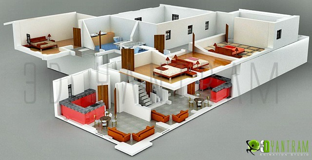 2d 3d home section plan flickr photo sharing