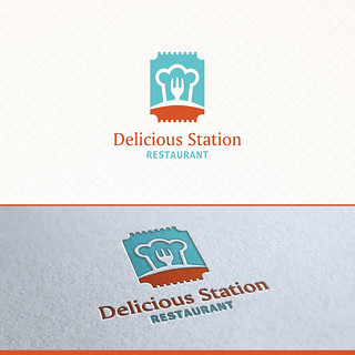 Delicious Station Restaurant Logo Template | by odesign79