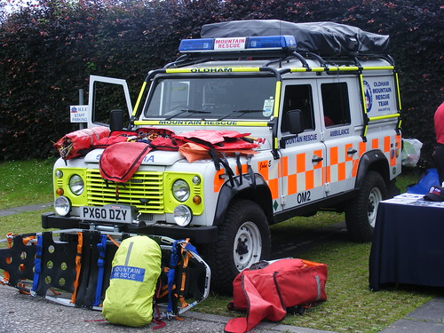 1840 Oldham Mountain Rescue Team Land Rover Defender