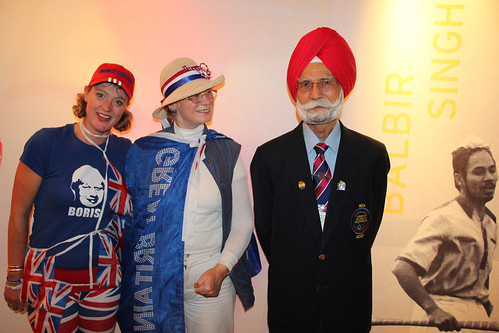 Balbir Singh with fans at The Olympic Journey exhibition © ROH 2012 | by Royal Opera House Covent Garden