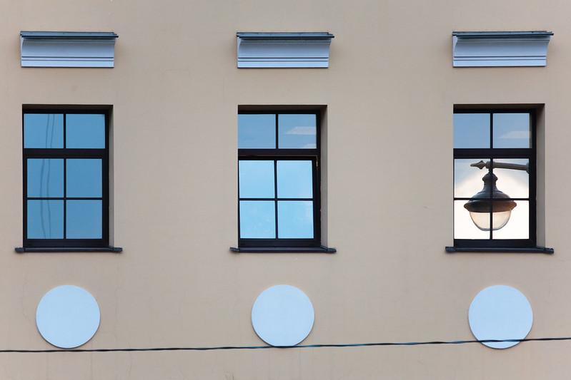 street, windows, lamp...