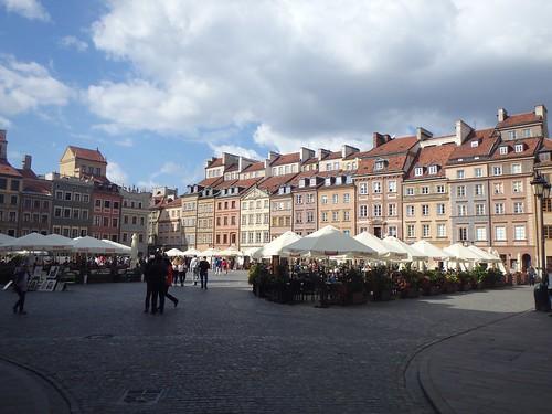 Una piazza di Varsavia