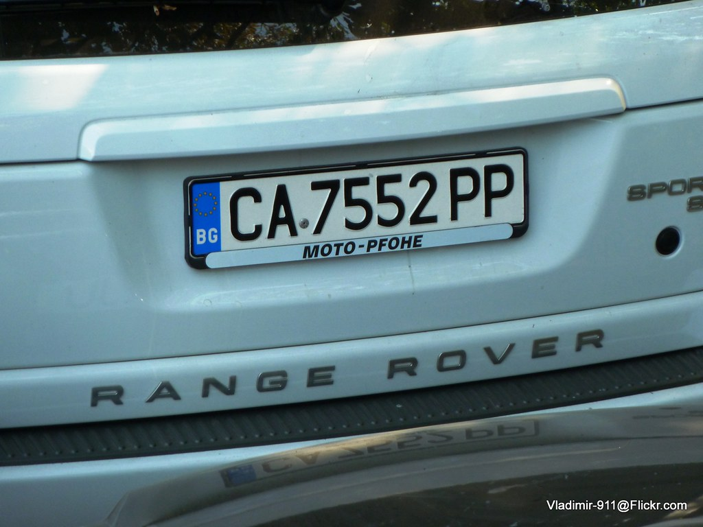 License Plate Camera >> European License Plates | Bulgaria EU Plate on a Range Rover… | Flickr