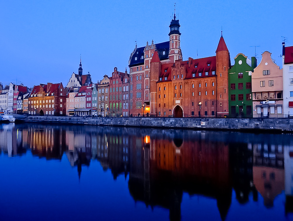 early morning in gdansk  poland