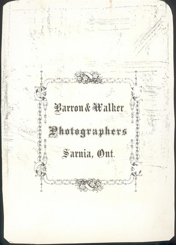 Barron & Walker - Young Family - Trimmed Cabinet Card - back | by snap-happy1