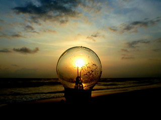 Light bulb sunset. | by _ami