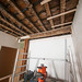 Voorbereidselen voor plafond en balkverberging