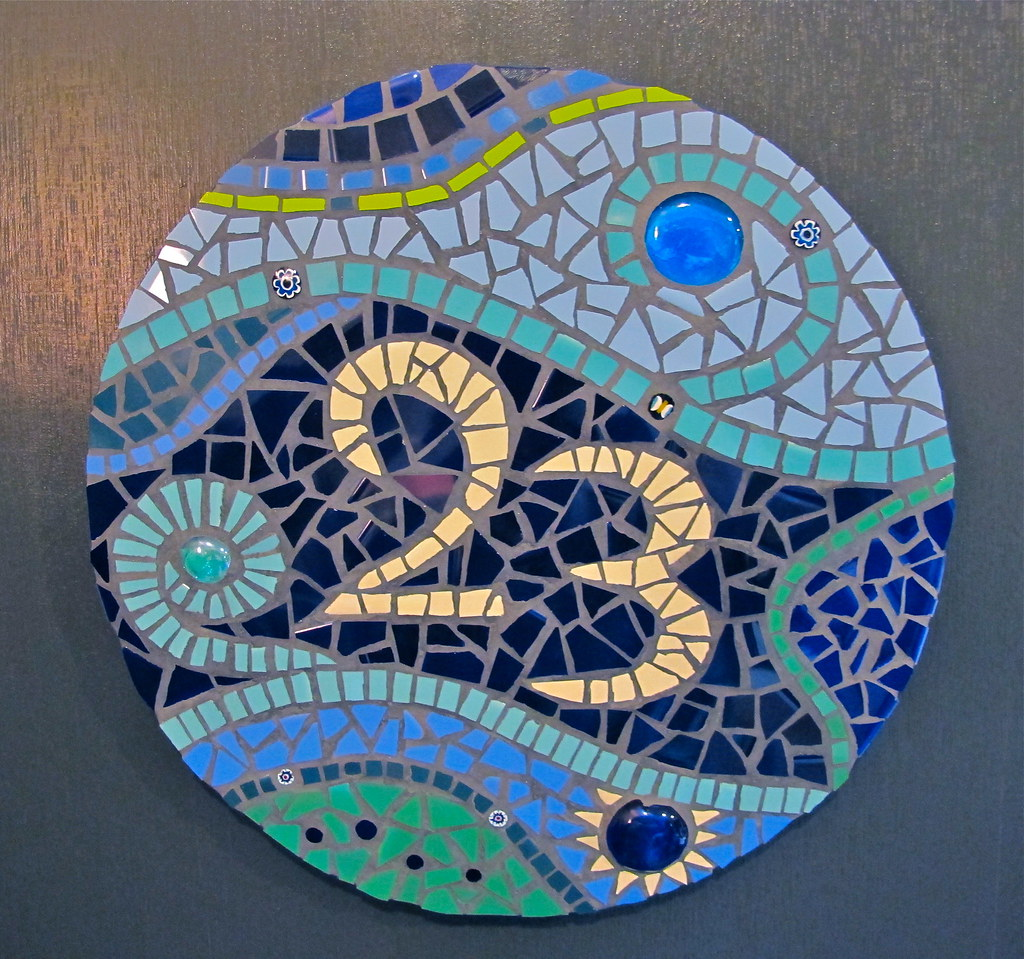 25 Modern Ideas To Use Stained Glass Designs For Home: Rachael Sheppard - Mosaic House Number