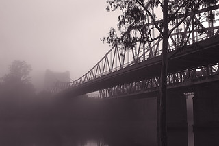 Walter Taylor Bridge disappears in the fog | by noompty