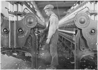 A doffer in Lincolnton Mill. Lincolnton, N.C, November 1908 | by The U.S. National Archives