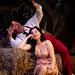 Paolo Gavanelli as Dulcamara and Aleksandra Kursak as Adina in L'Elisir d'amore. ©ROH/Catherine Ashmore 2007