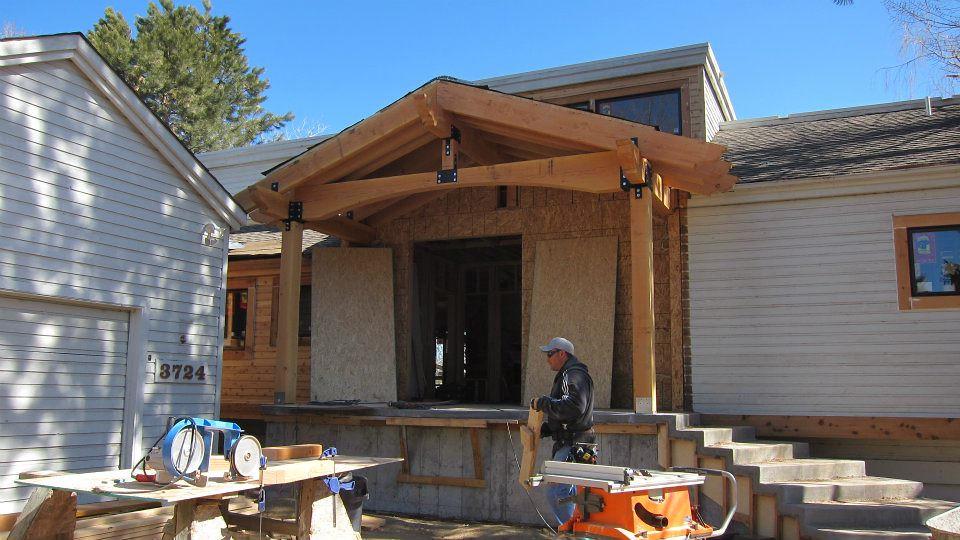 7 New Rough Sawn Cedar Front Porch Roof Wayne Barton