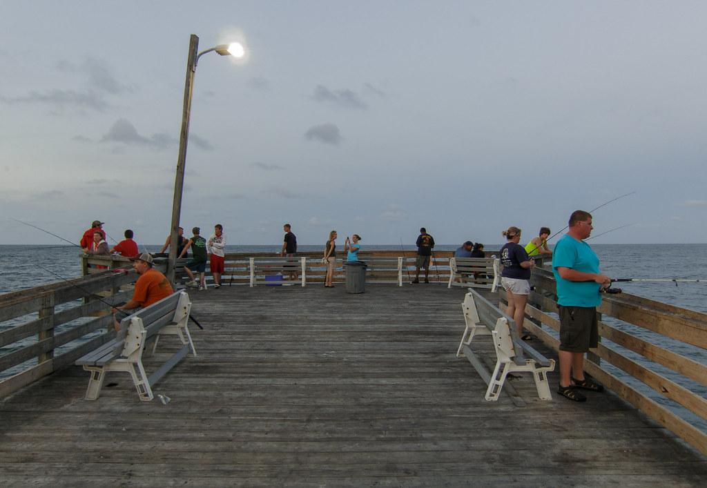 Fishing pier virginia beach steve unlikely flickr for Fishing virginia beach