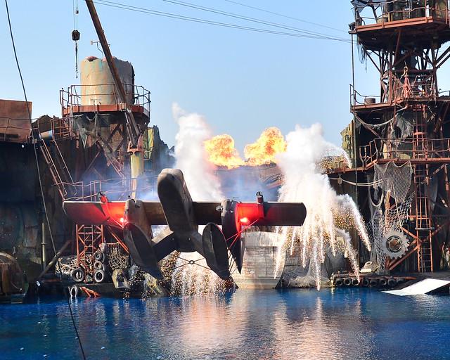 Momento increíble en una de las atracciones de Universal Studios de Los Angeles