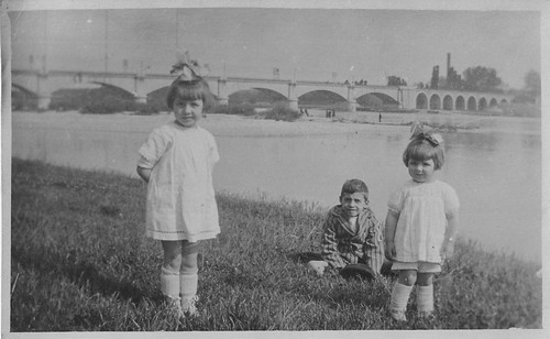 My mother, Yvette (Pillet) Keeling (on right), Lyon, France May 9th, 1924 | by GymeeDee