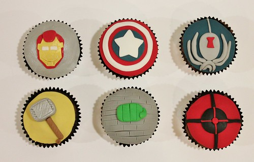 Avengers Cupcakes | by punkshimmy