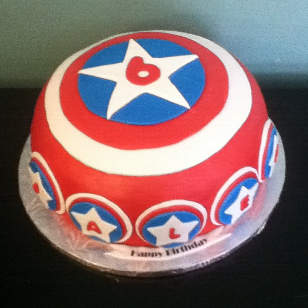 how to make a captain america shield cake