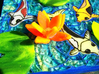 Koi Mosaic detail | by Glass Garden Creations / Sharon Kelly