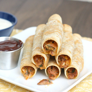 Baked Barbecue Pulled Pork Taquitos | by Tracey's Culinary Adventures