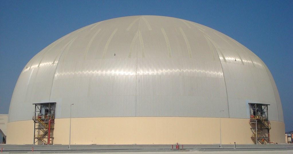 135m ruwais dome abu dhabi uae sulfur storage dome
