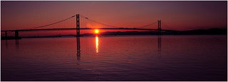 Sunset at the Forth road bridge | by JACK BYERS.