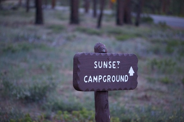 Sunset Campground Sign