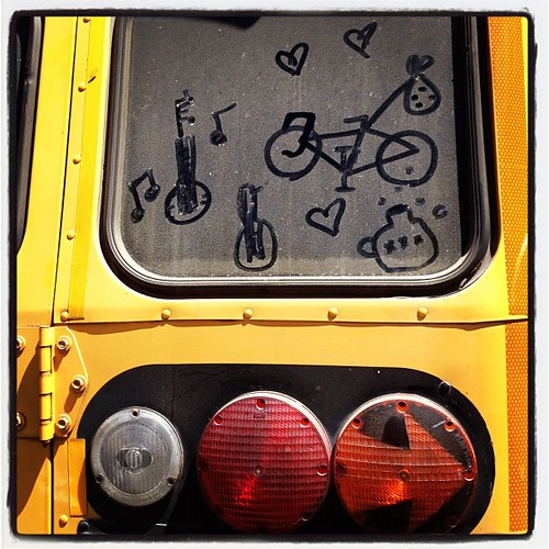 Somehow @prawnpie & I found ourselves on a yellow school bus full of bikes! | by calitexican