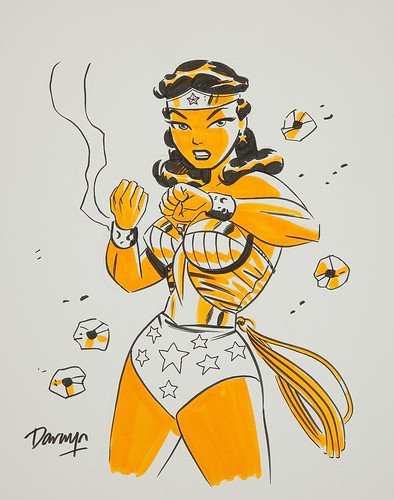 Darwyn Cooke Wonder Woman Illustration Original Art bullets braclets | by giantsizegeek