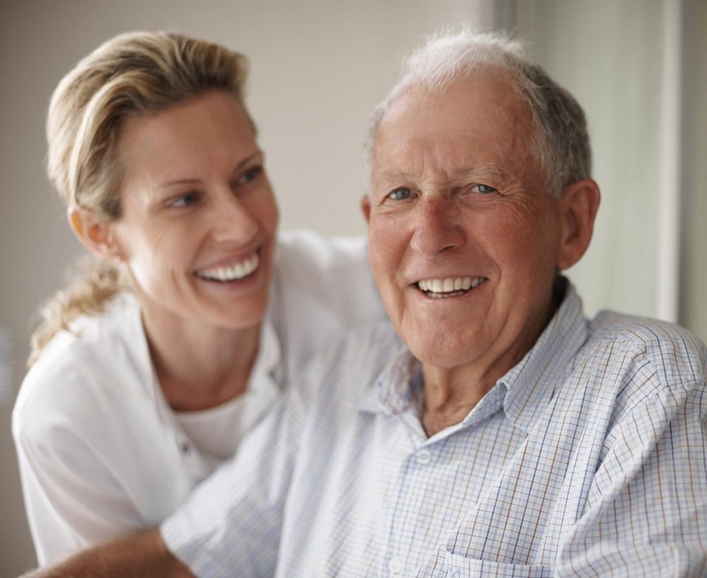 Old man take care nurse 9
