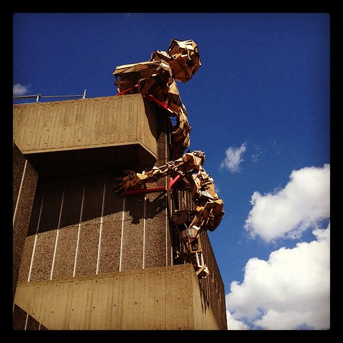 Pallet men take over the Southbank | by scrosland