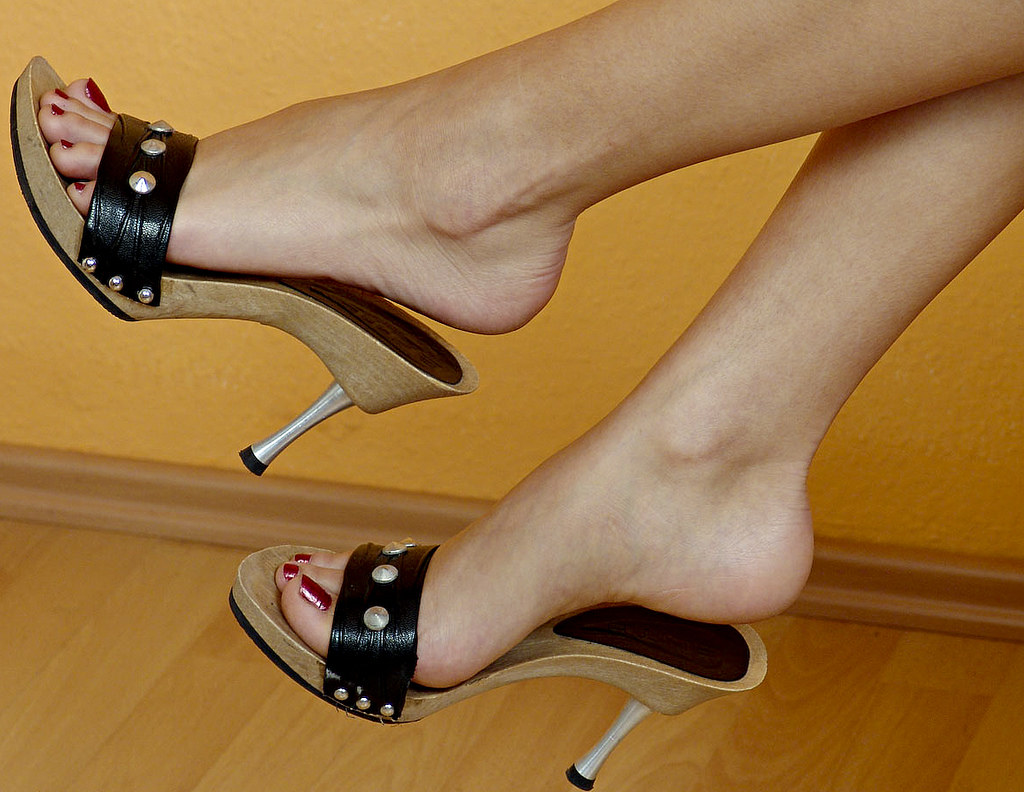 image Sexy heels mules dangling full hd preview of my website