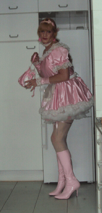 Pink Sissy Maid With Pink Sissy Bag  Felicia Colette  Flickr-9195