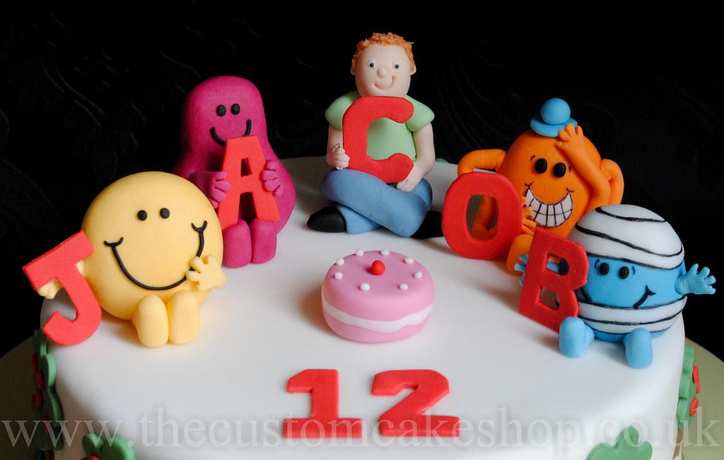 Mr Men Birthday Cake Wwwthecustomcakeshopcouk Wwwfaceb Flickr - Mr tickle birthday cake