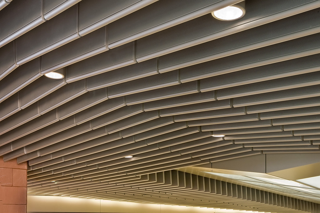 Acoustical Ceiling Baffles Mccarran Rent A Car Center