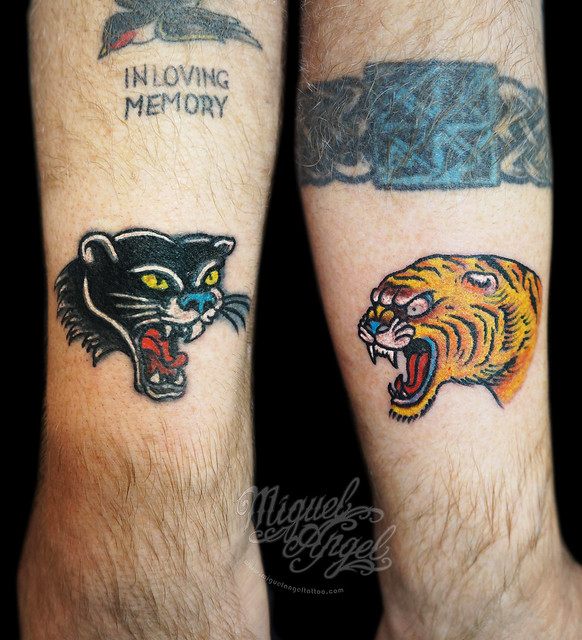 Panther and tiger fix up old tattoos flickr photo sharing for Panther tiger tattoo