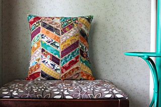 Indie Pillow inspired by West Elm Kantha Chevron Pillows | by maureencracknell
