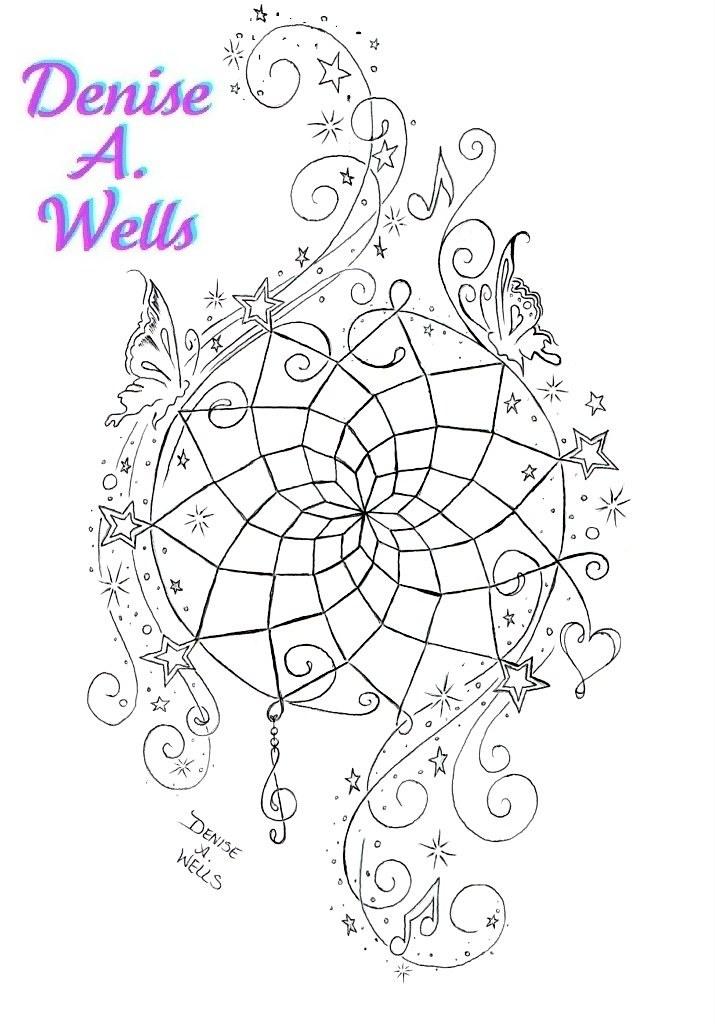 Dreamcatcher Tattoo Design By Denise A Wells Quot Dream
